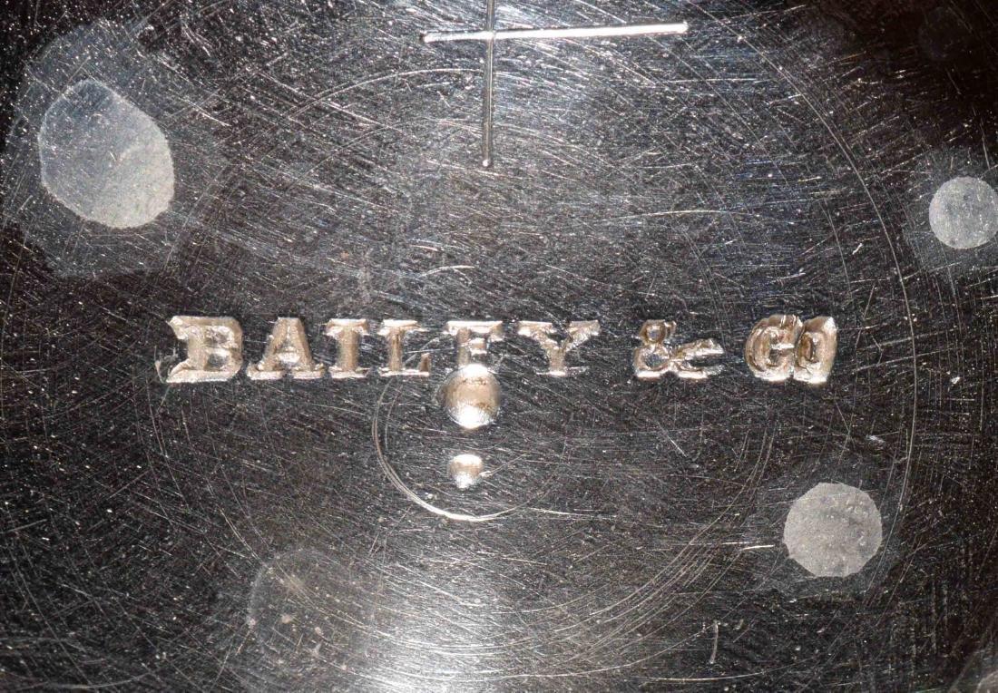 BAILEY & CO. COIN SILVER SUGAR BOWL AND COVER. - 7
