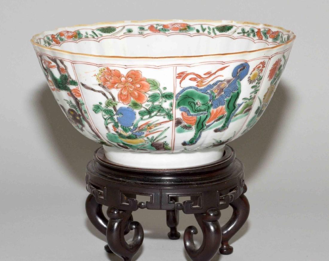 CHINESE PORCELAIN FAMILLE VERTE BOWL. Kangxi period,