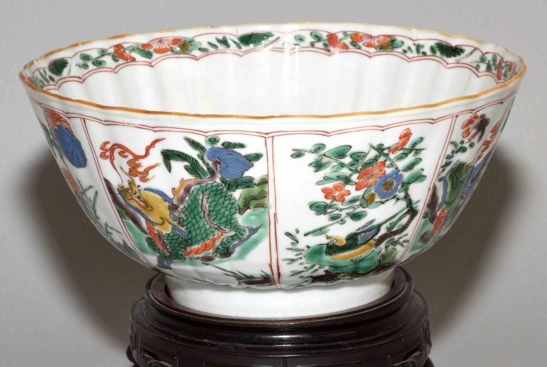 CHINESE PORCELAIN FAMILLE VERTE BOWL. Kangxi period, - 3