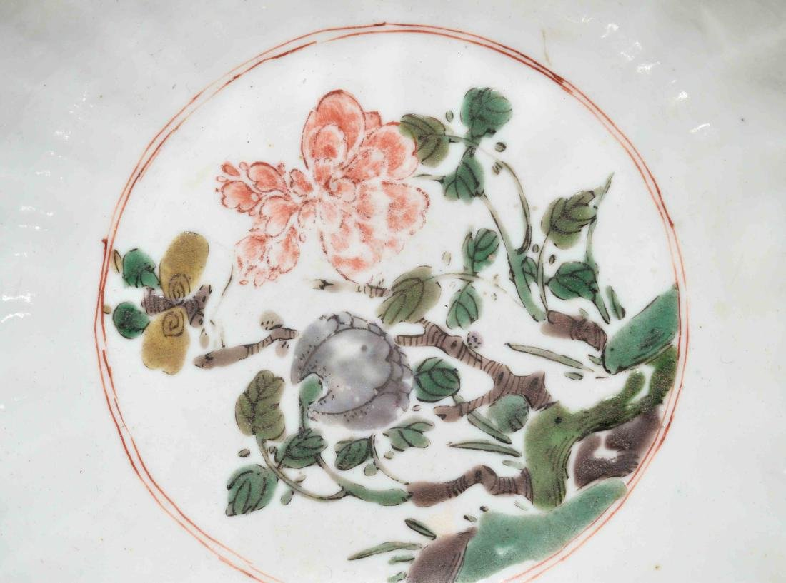 CHINESE PORCELAIN FAMILLE VERTE BOWL. Kangxi period, - 6