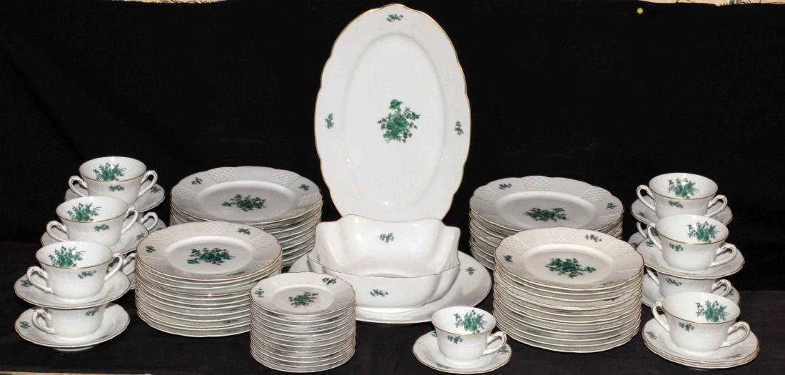 VISTA ALEGRE GREEN AND WHITE TABLE SERVICE, Portugal,