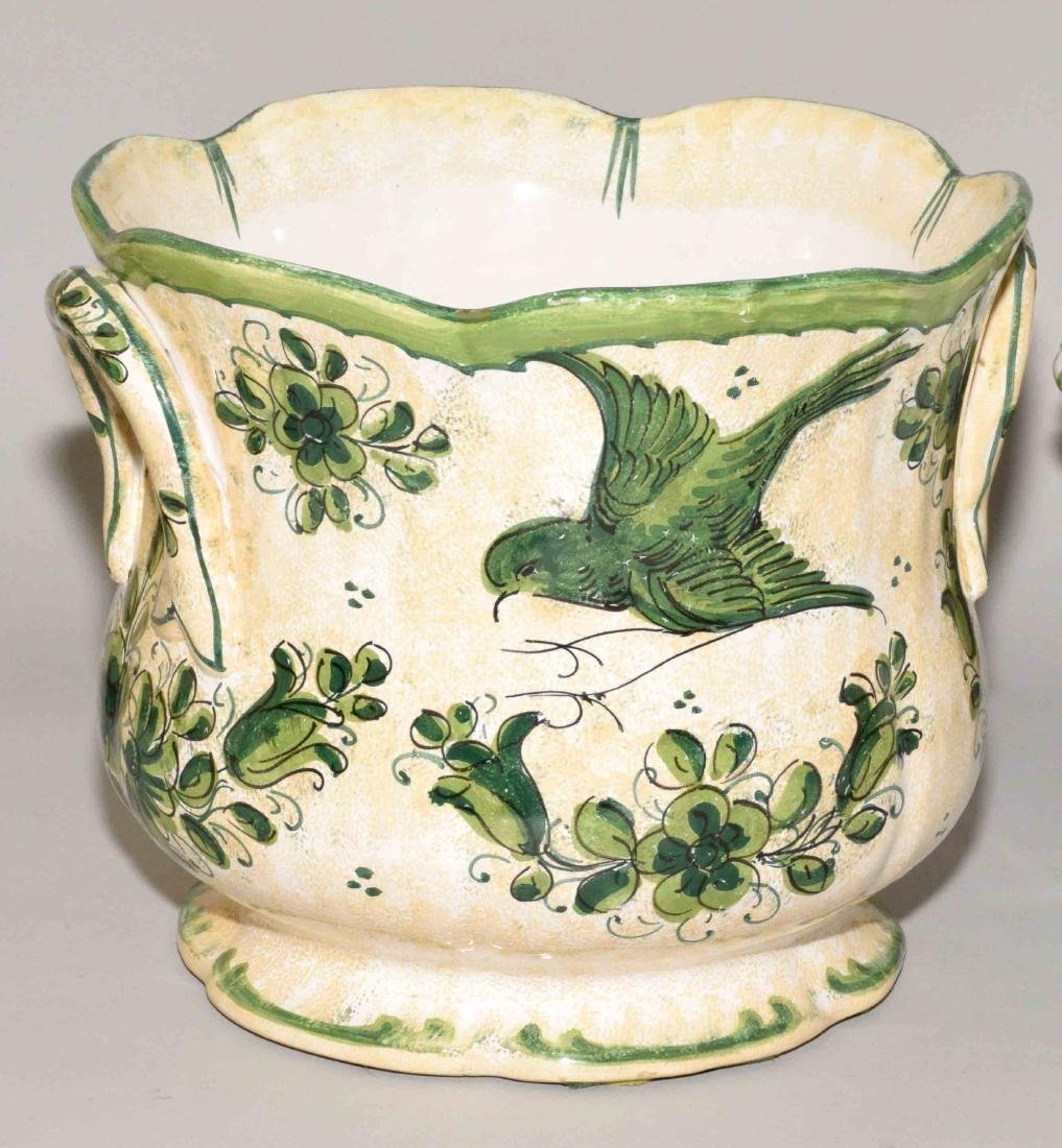 (3) MODERN CERAMIC VESSELS, comprising: Italian faience - 2