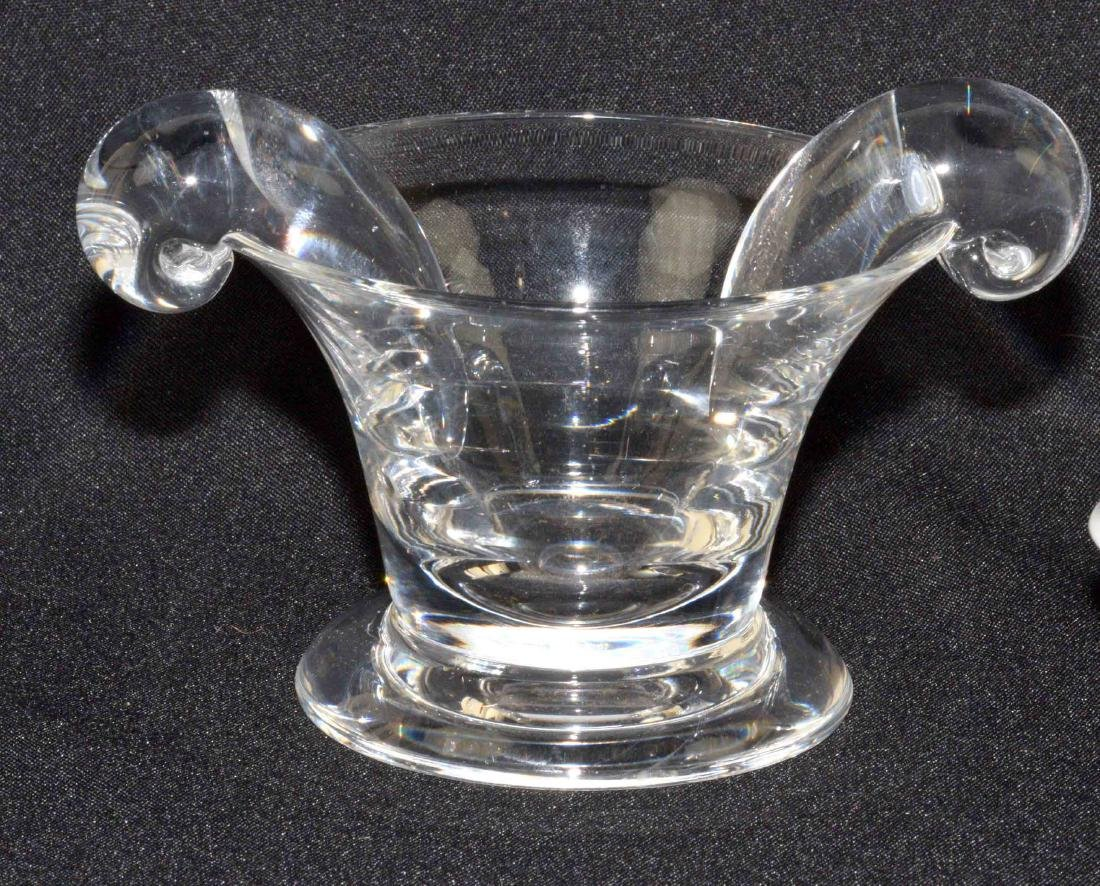 (3) PIECE STUEBEN GLASS VASE AND A PAIR OF RICHARD - 2