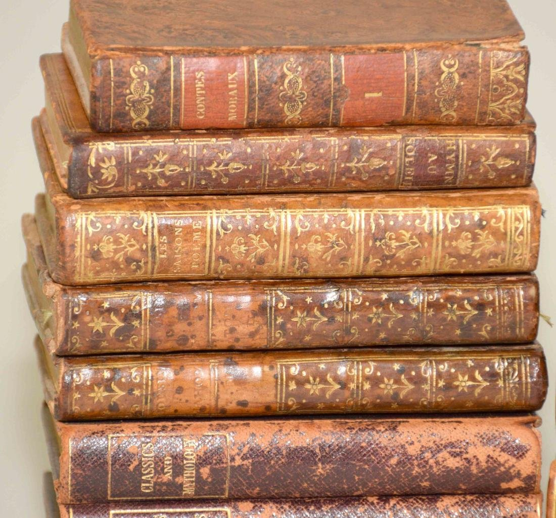 GROUP OF (29) ANTIQUE LEATHER BOUND VOLUMES IN FRENCH - 3