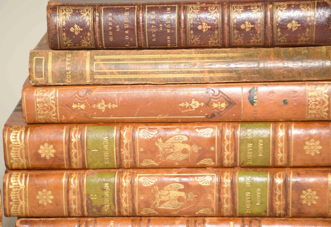 GROUP OF (29) ANTIQUE LEATHER BOUND VOLUMES IN FRENCH - 4