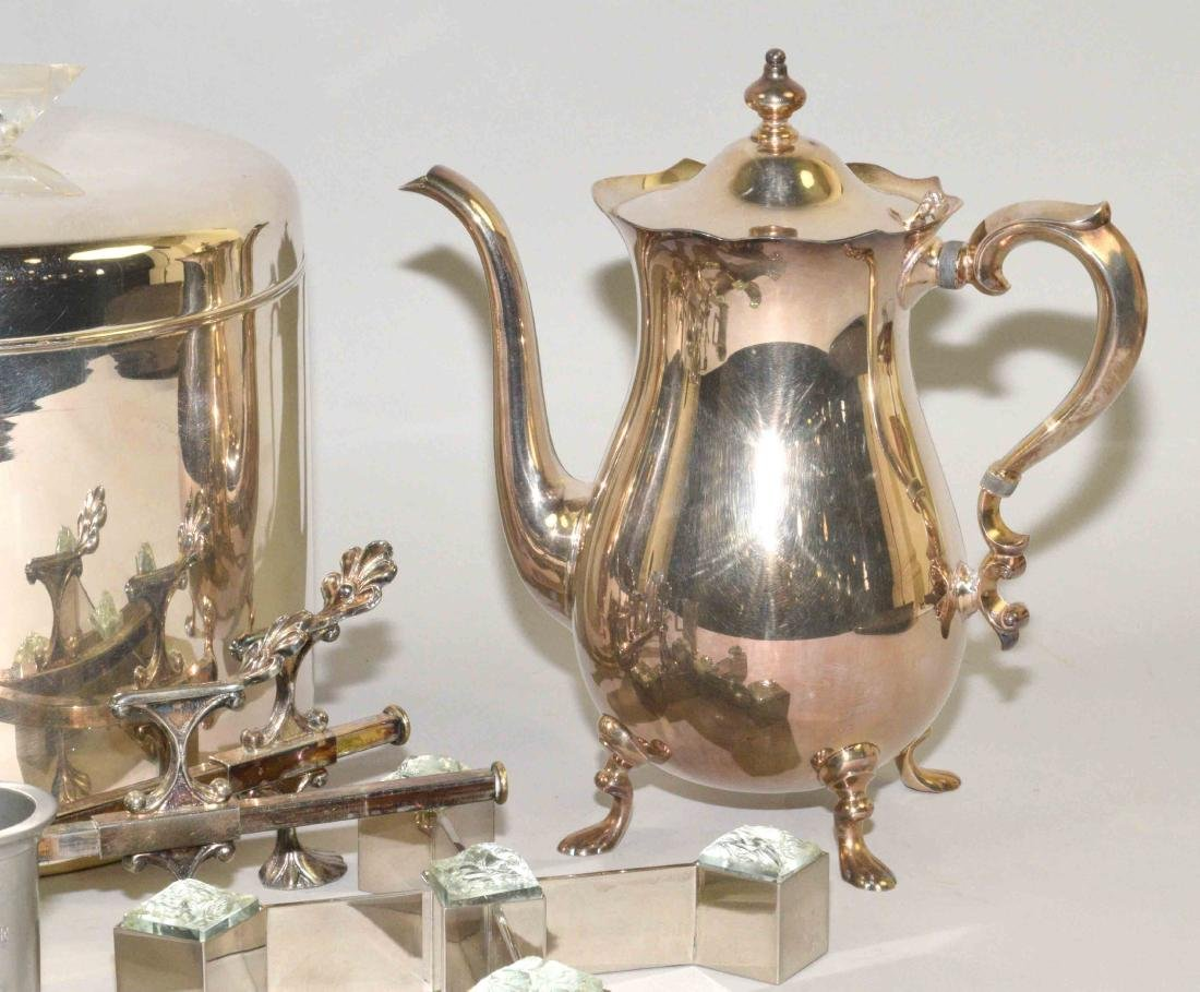GROUP OF (8) SILVERPLATE AND PEWTER OBJECTS. - 4