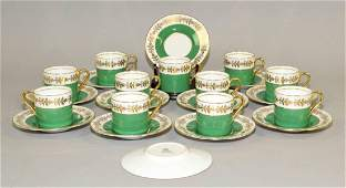 (22) PC. AYNSLEY BONE CHINA CAPPUCCINO SET. Made in