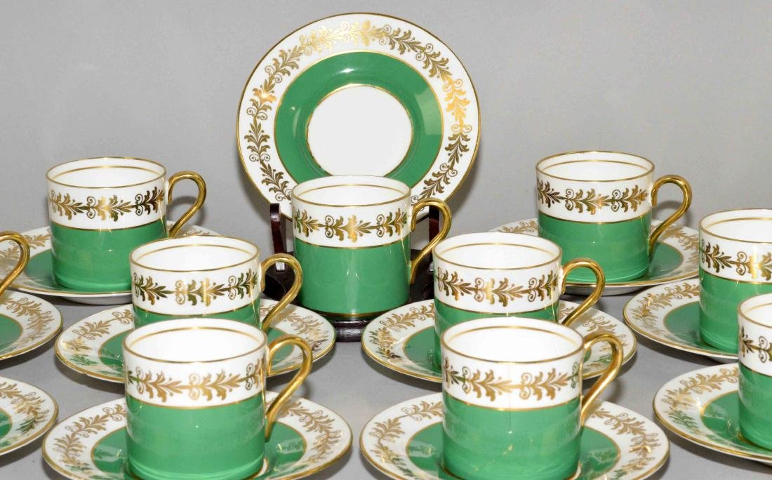 (22) PC. AYNSLEY BONE CHINA CAPPUCCINO SET. Made in - 2