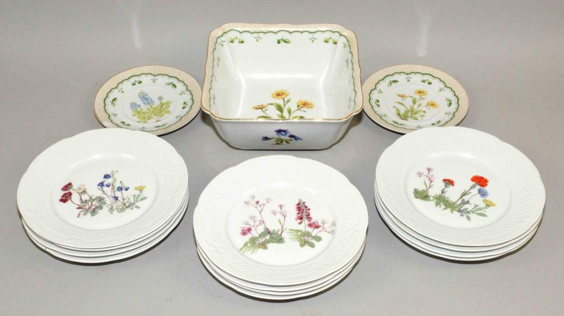 GROUP OF (15PC) PORCELAIN LIMOGES AND GEORGE PORTARD