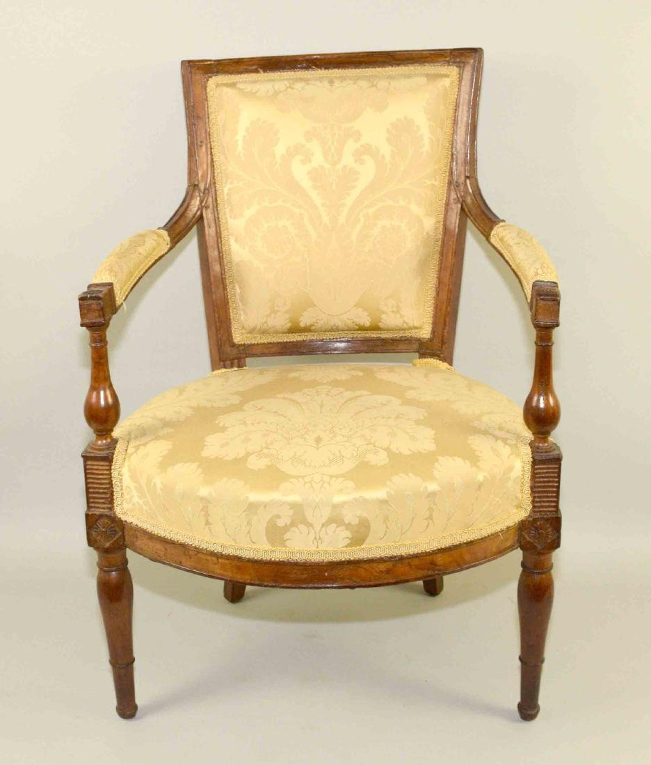 DIRECTOIRE FRUITWOOD FAUTEUIL, late 18th/early 19th C.,