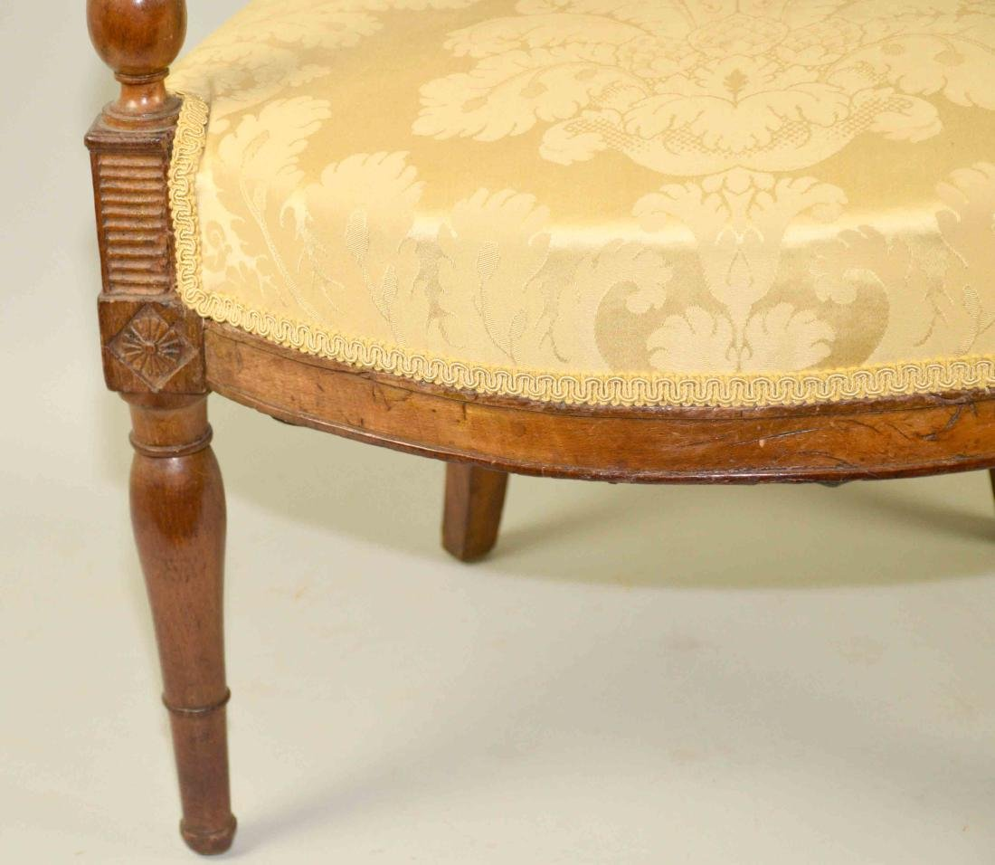 DIRECTOIRE FRUITWOOD FAUTEUIL, late 18th/early 19th C., - 2