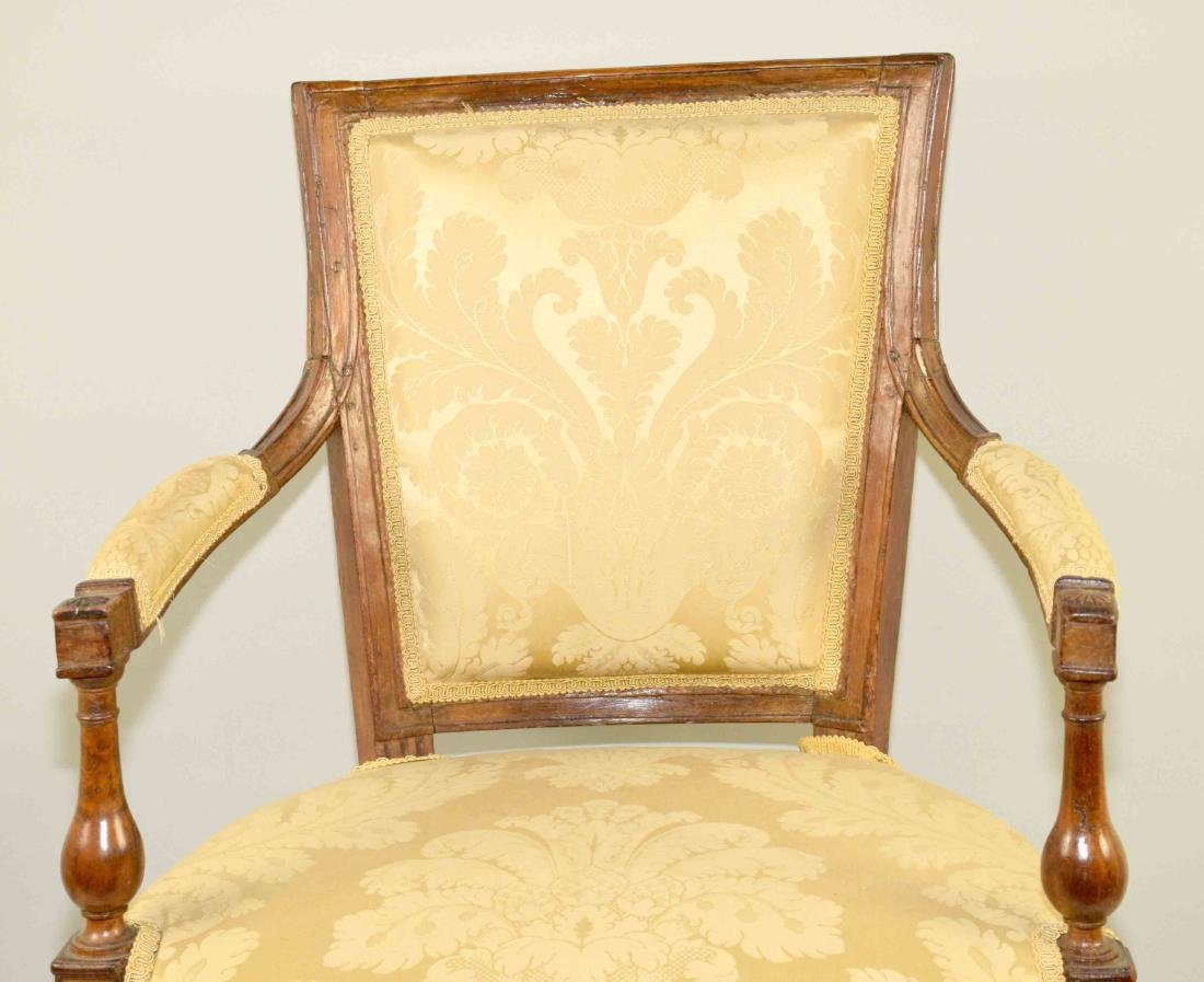 DIRECTOIRE FRUITWOOD FAUTEUIL, late 18th/early 19th C., - 3