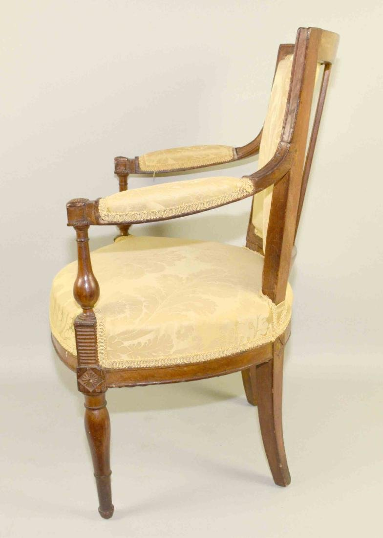 DIRECTOIRE FRUITWOOD FAUTEUIL, late 18th/early 19th C., - 4