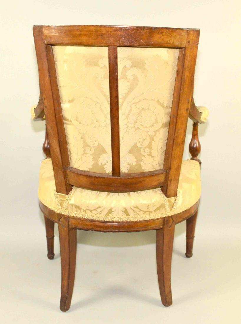 DIRECTOIRE FRUITWOOD FAUTEUIL, late 18th/early 19th C., - 6