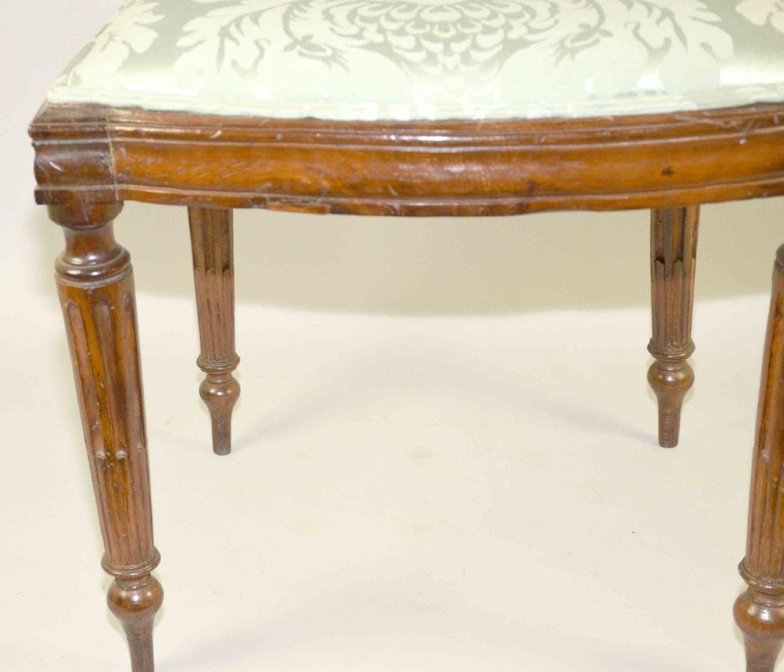LOUIS XVI CARVED FRUITWOOD SIDE CHAIR, late 18th C. - 2