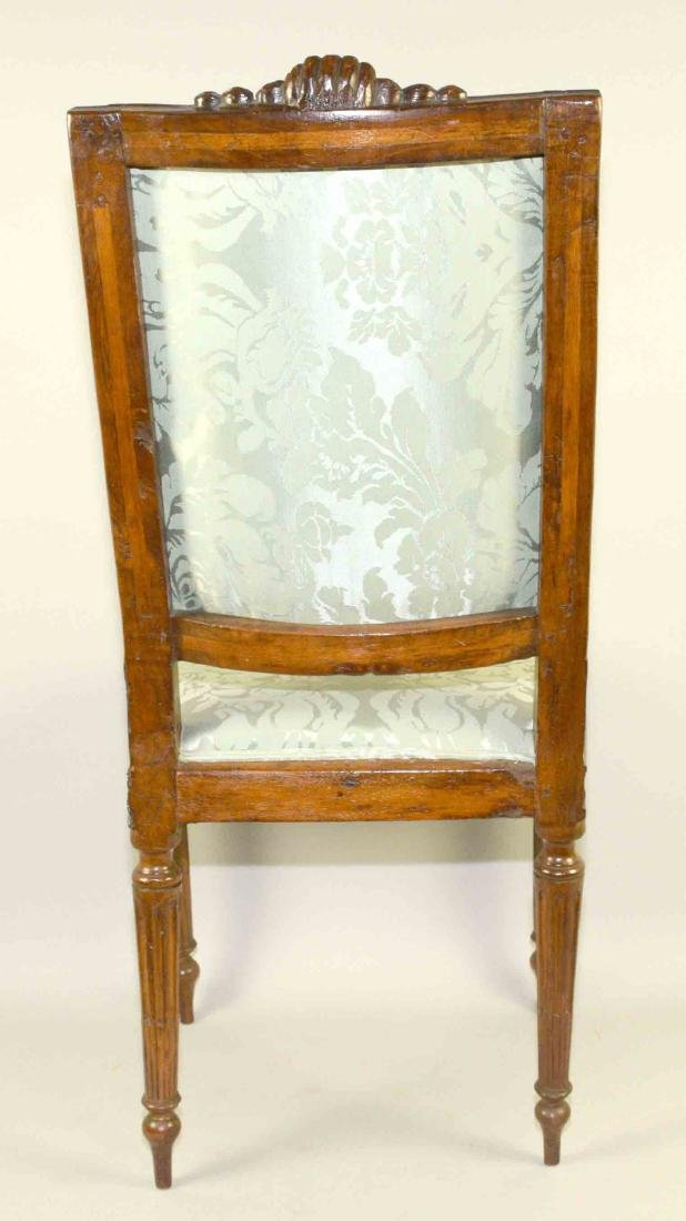 LOUIS XVI CARVED FRUITWOOD SIDE CHAIR, late 18th C. - 5