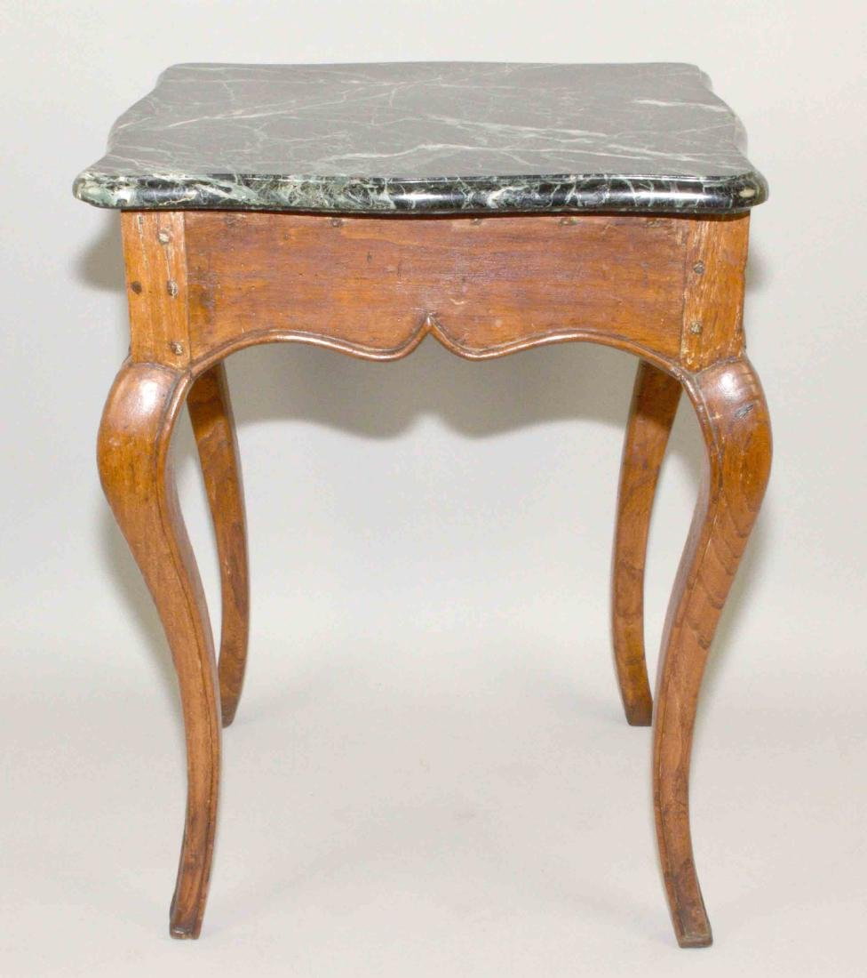 LOUIS XV FRUITWOOD MARBLE TOP OCCASIONAL TABLE