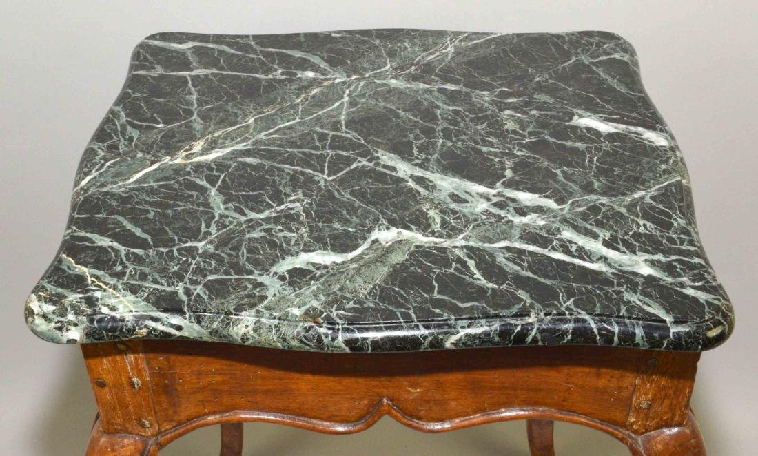 LOUIS XV FRUITWOOD MARBLE TOP OCCASIONAL TABLE - 3