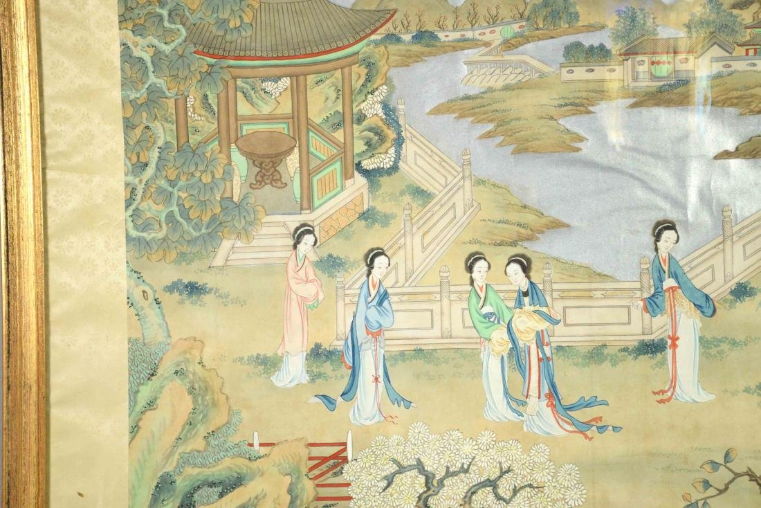 CHINESE PAINTING DEPICTING LADIES IN A GARDEN, 20th C. - 2