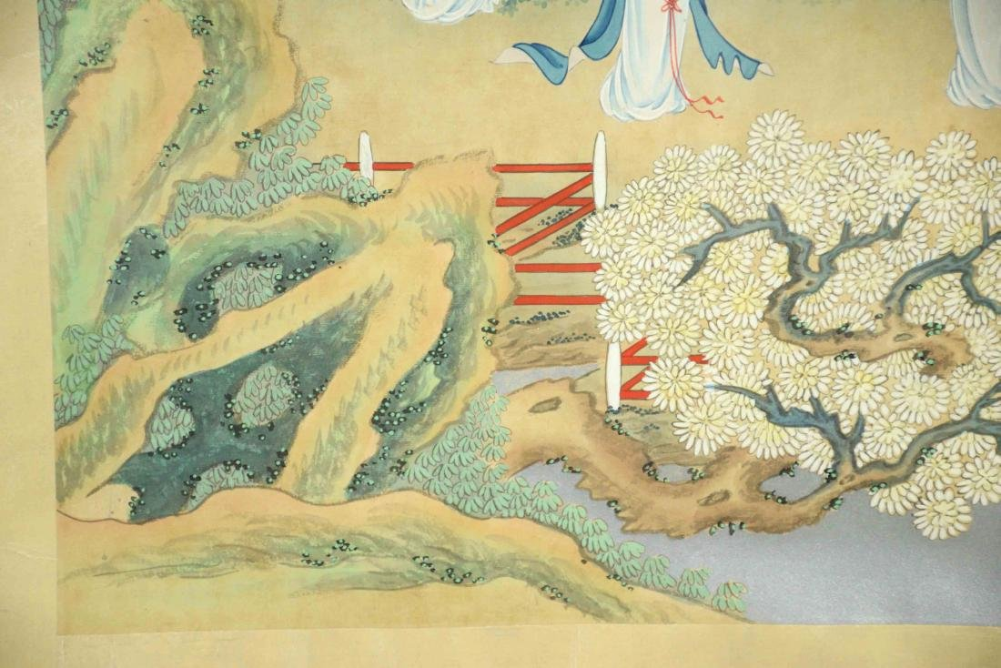 CHINESE PAINTING DEPICTING LADIES IN A GARDEN, 20th C. - 4