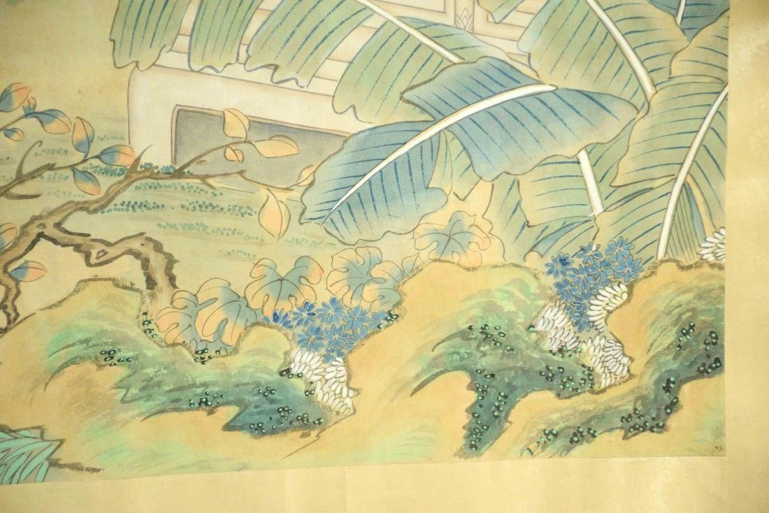 CHINESE PAINTING DEPICTING LADIES IN A GARDEN, 20th C. - 5