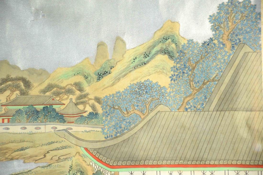 CHINESE PAINTING DEPICTING LADIES IN A GARDEN, 20th C. - 6