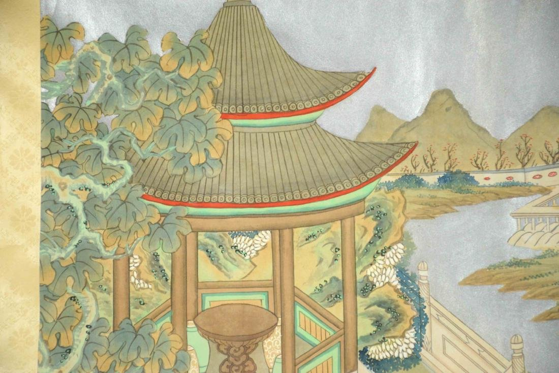 CHINESE PAINTING DEPICTING LADIES IN A GARDEN, 20th C. - 8