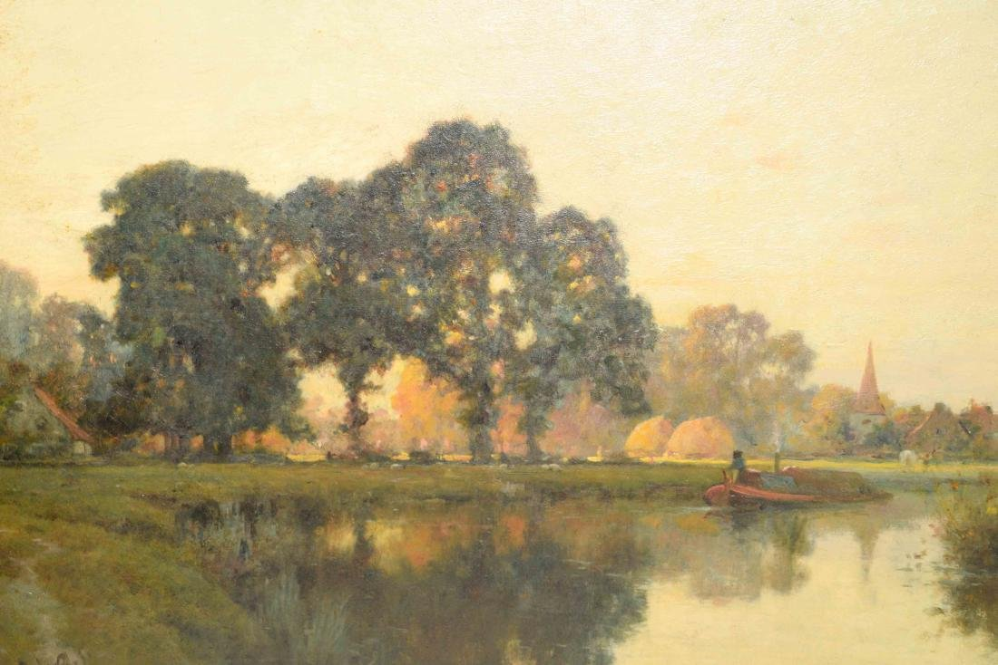 A. BYLANT RIVERSCAPE, oil on canvas (French 19th C.) - 2