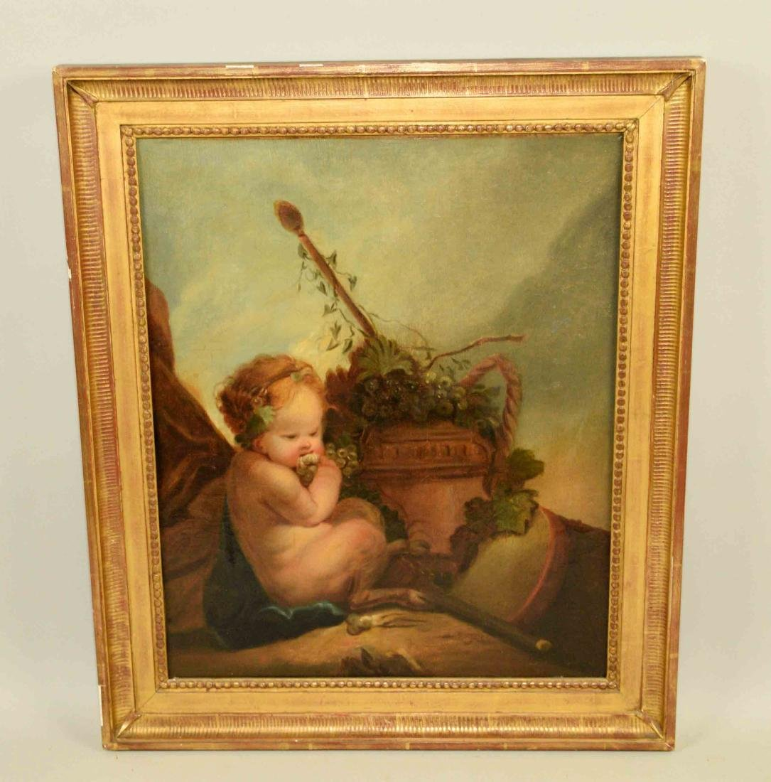 FRENCH SCHOOL (18th C.) ''Baby Bacchus'' oil on canvas,