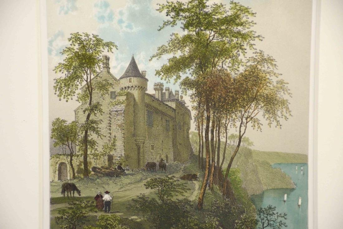 FRENCH HAND-COLORED LITHOGRAPH ''Chateau de la - 2