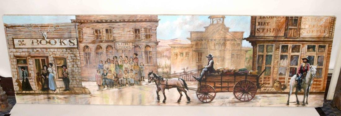 CONTEMPORARY OIL ON CANVAS PAINTING OF AMERICAN WESTERN
