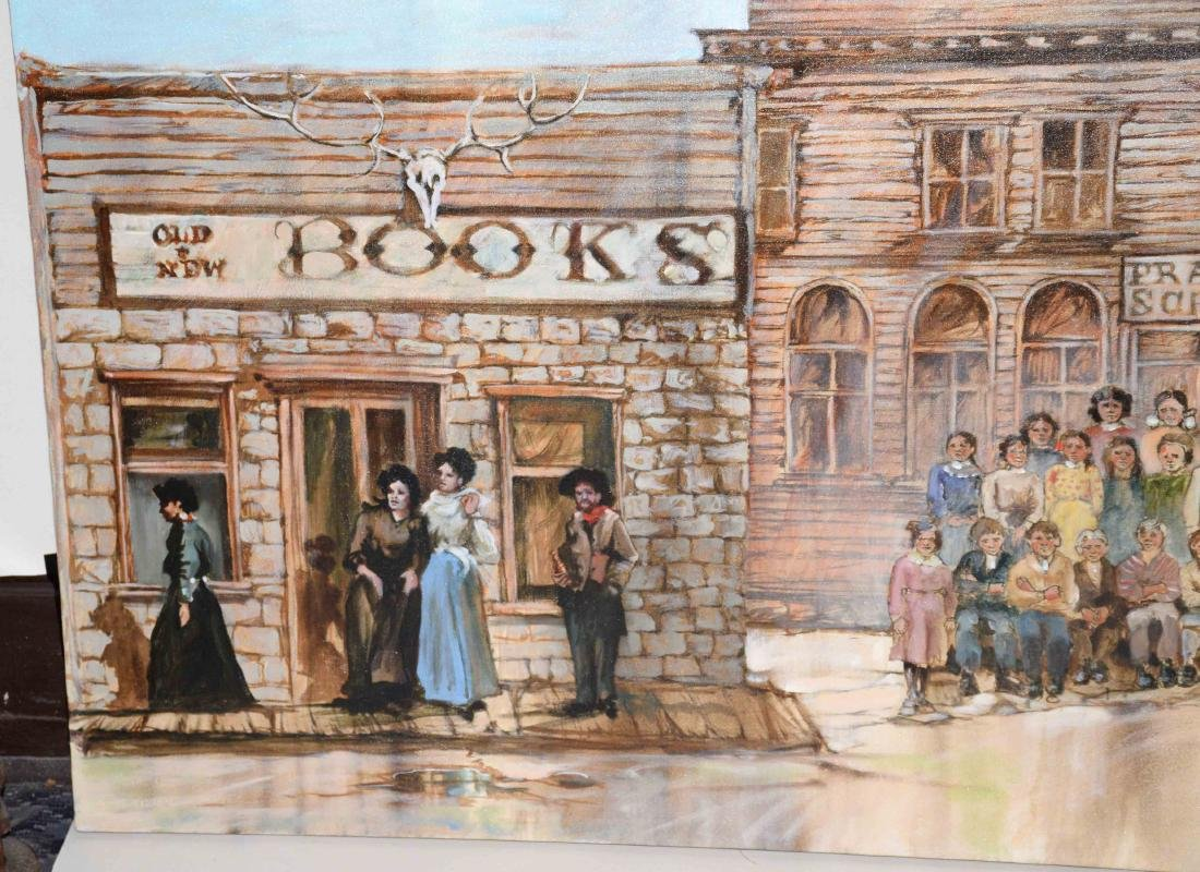 CONTEMPORARY OIL ON CANVAS PAINTING OF AMERICAN WESTERN - 2