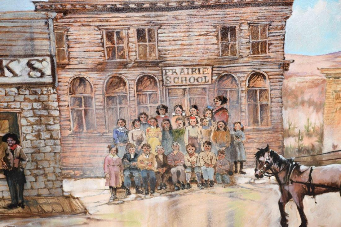 CONTEMPORARY OIL ON CANVAS PAINTING OF AMERICAN WESTERN - 3