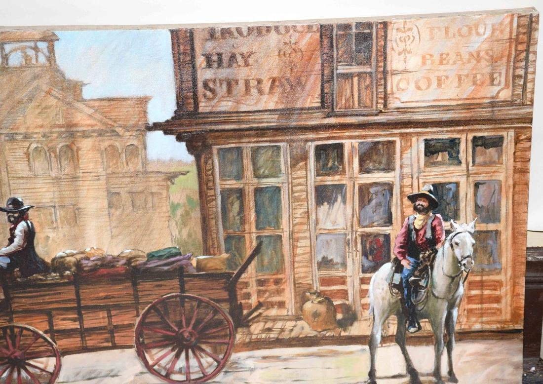 CONTEMPORARY OIL ON CANVAS PAINTING OF AMERICAN WESTERN - 6
