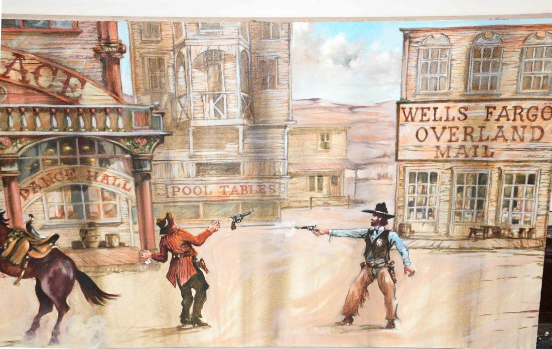 CONTEMPORARY OIL ON CANVAS PAINTING OF AMERICAN WESTERN - 4