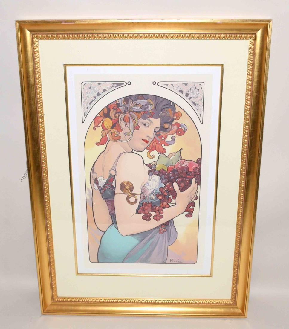 PAIR OF LARGE PRINTS DEPICTING SPRING AND SUMMER signed
