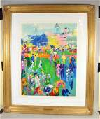 LEROY NEIMAN PENCIL, signed ''Derby Day Paddock''.
