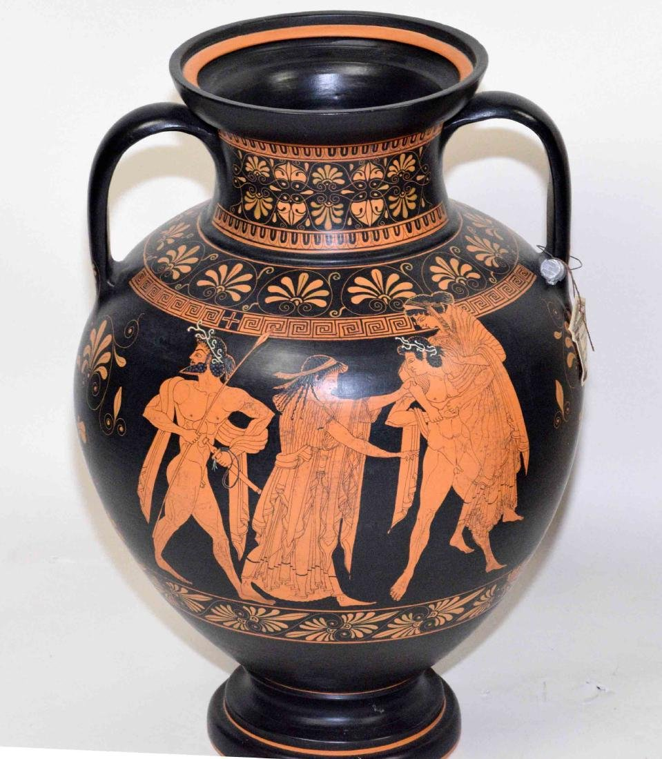 THREE VASES PAINTED WITH CLASSICAL GREEK FIGURES - 2