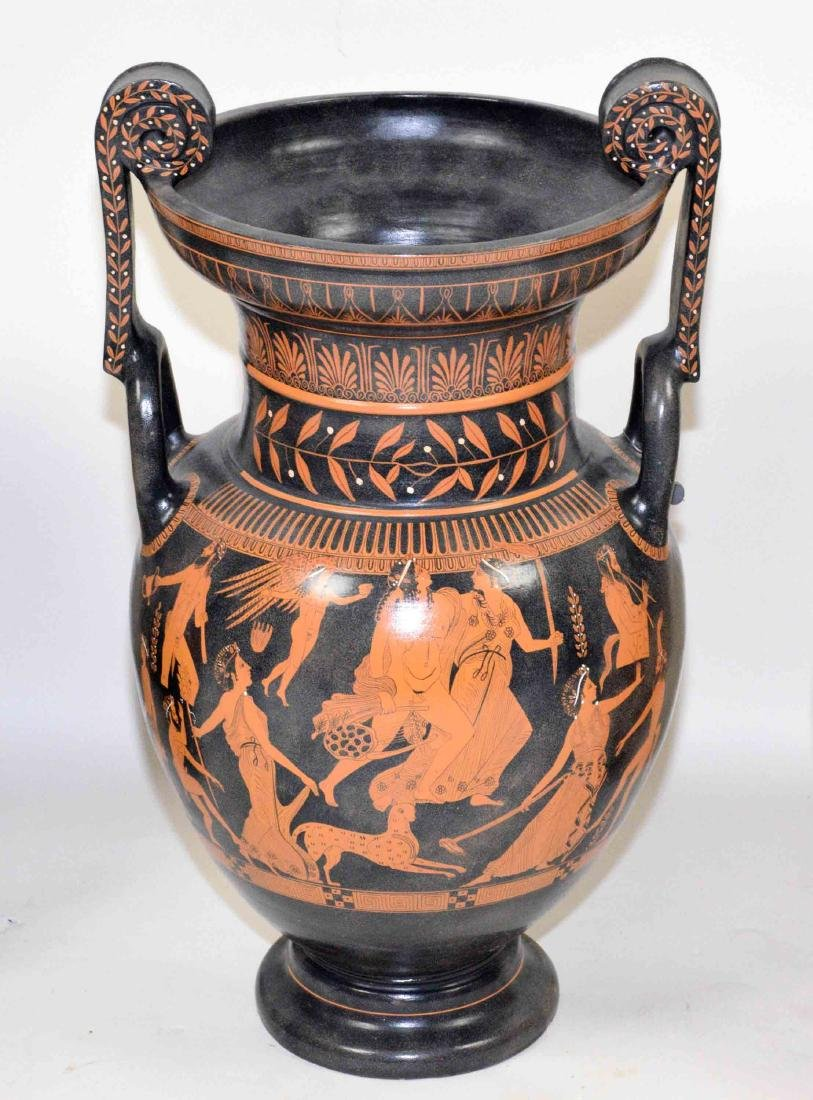 THREE VASES PAINTED WITH CLASSICAL GREEK FIGURES - 3