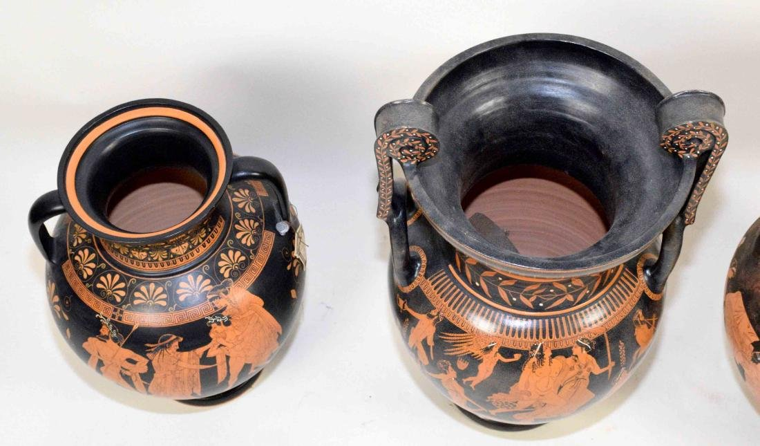 THREE VASES PAINTED WITH CLASSICAL GREEK FIGURES - 5