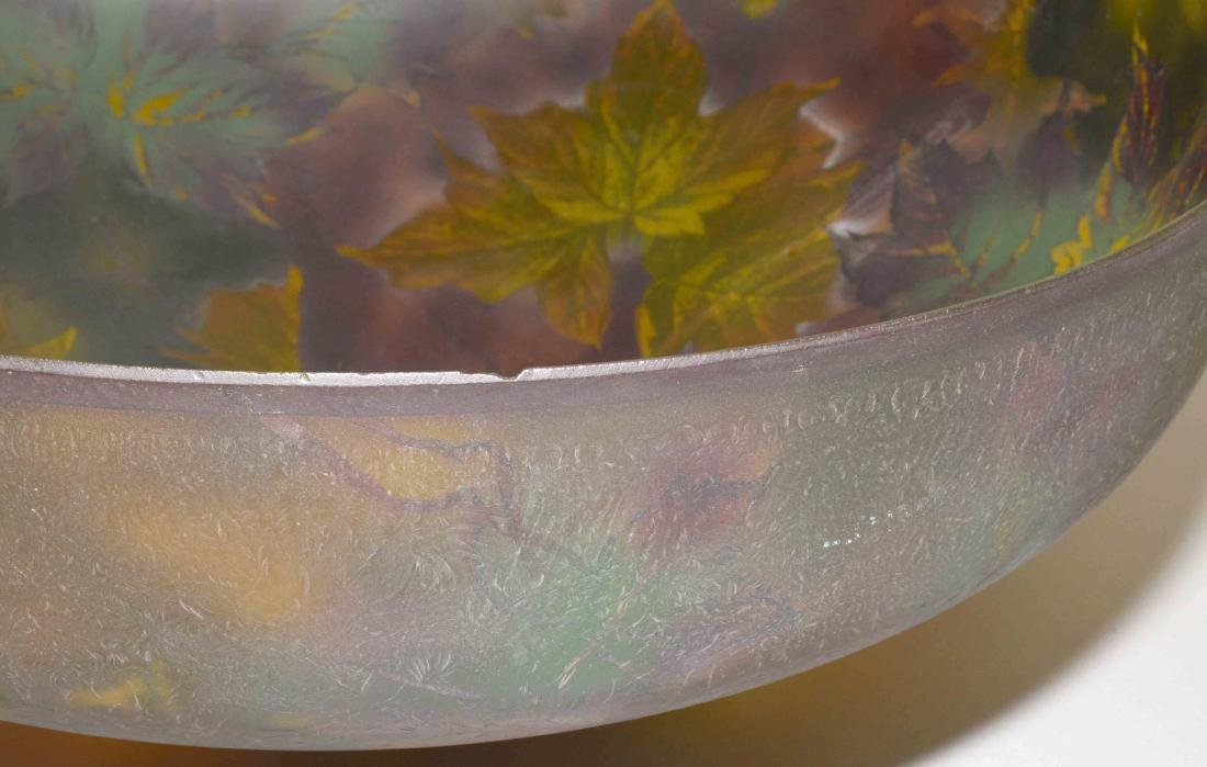 PITTSBURGH PAINTED GLASS SHADE with crack on unusual - 8
