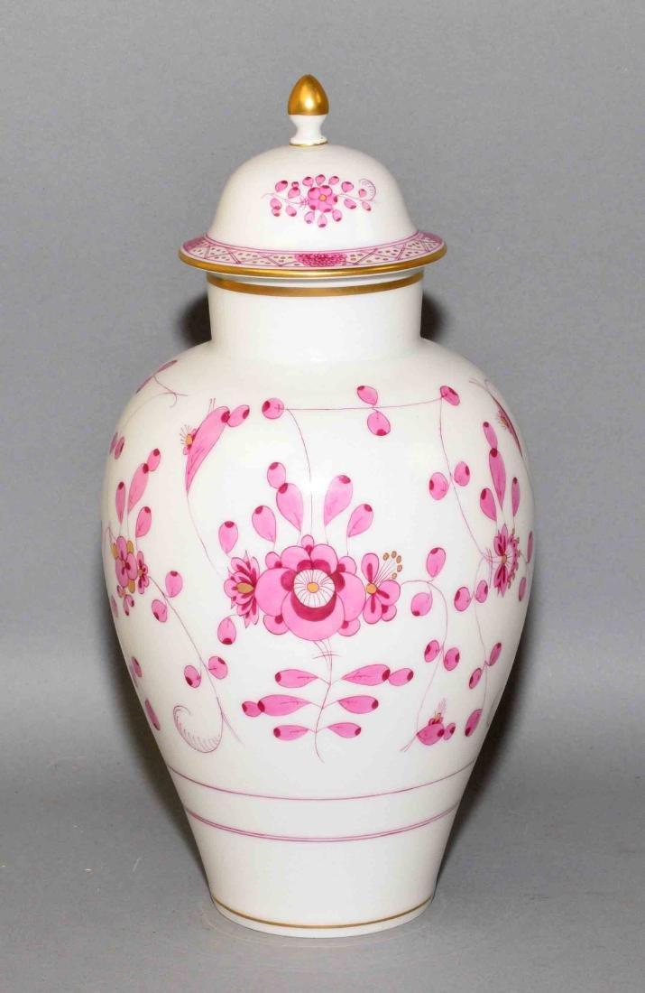 MEISSEN VASE - Pink floral decor