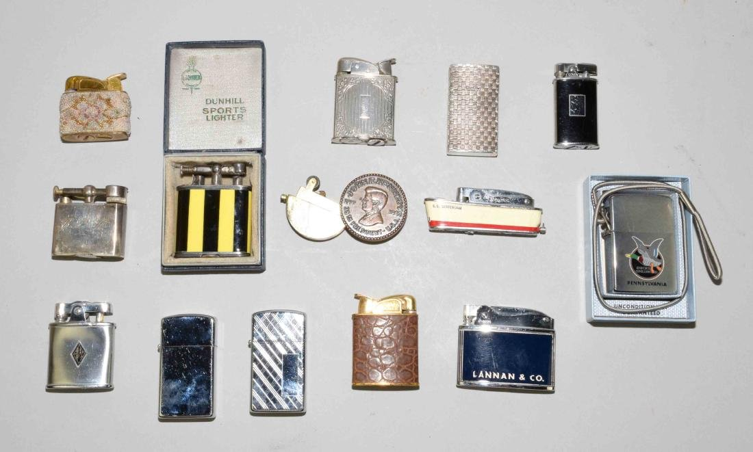 LIGHTER COLLECTION. (14) pieces, including Tiffany &