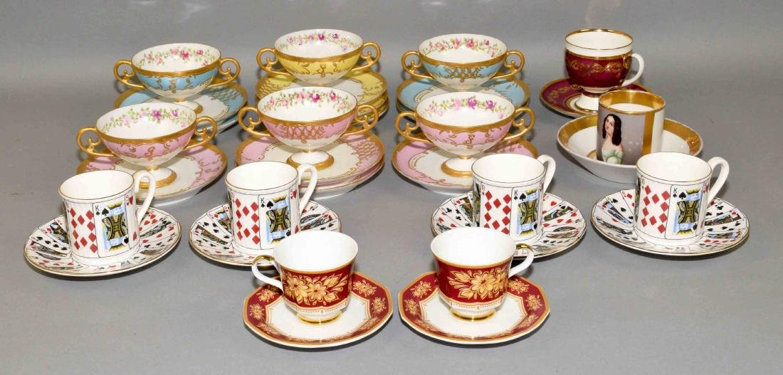 33pcs ASSORTED CUP AND SAUCER SETS - Includes: (1)