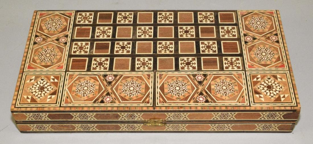 EXQUISITE BACKGAMMON AND CHESS BOARD. 18.5''L x