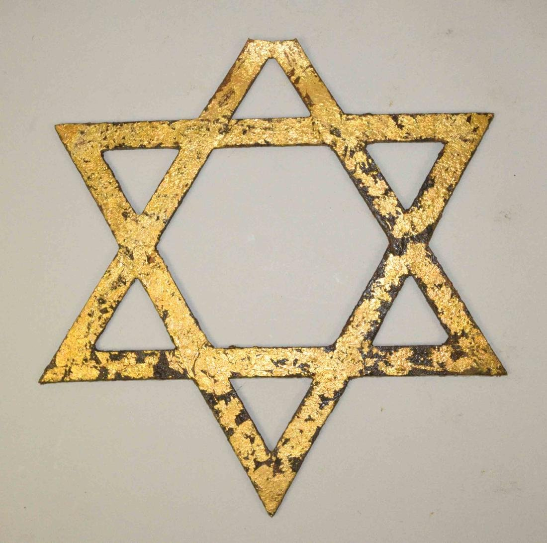 19TH C. IRON ''STAR OF DAVID'' from Synagogue gate on