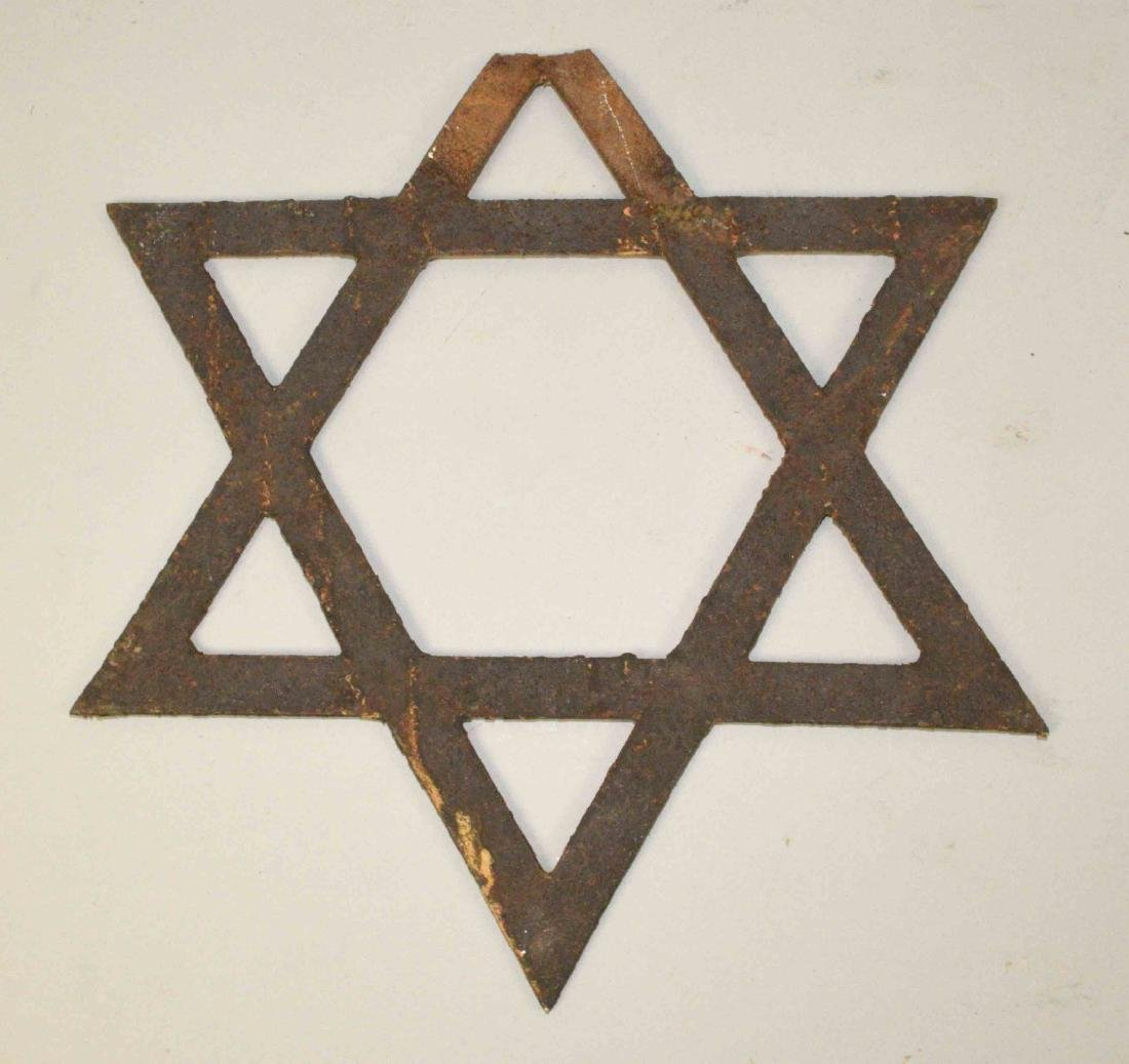 19TH C. IRON ''STAR OF DAVID'' from Synagogue gate on - 2