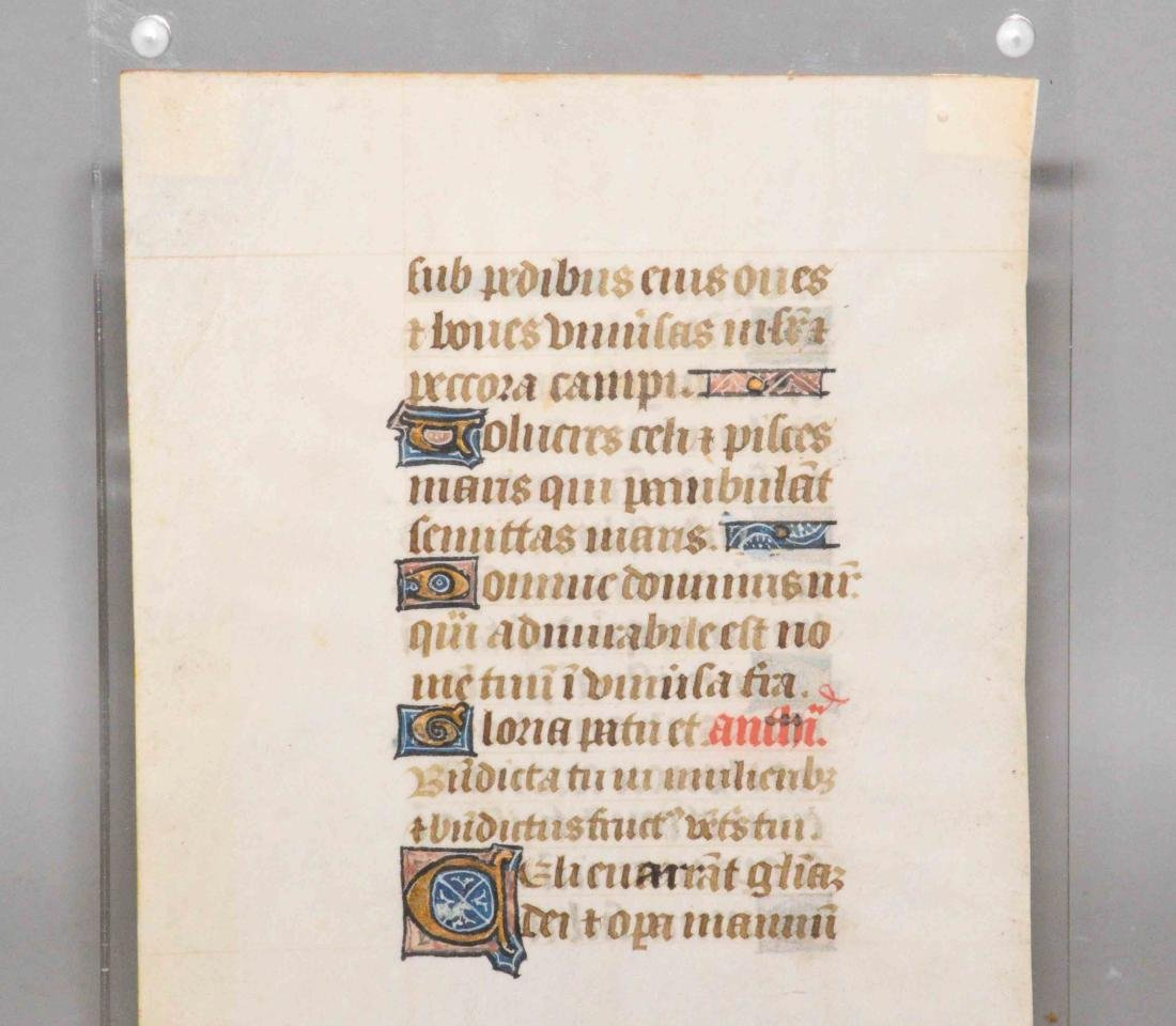 MIDIEVAL MANUSCRIPT PAGE, 15th to 16th C., Book of - 4