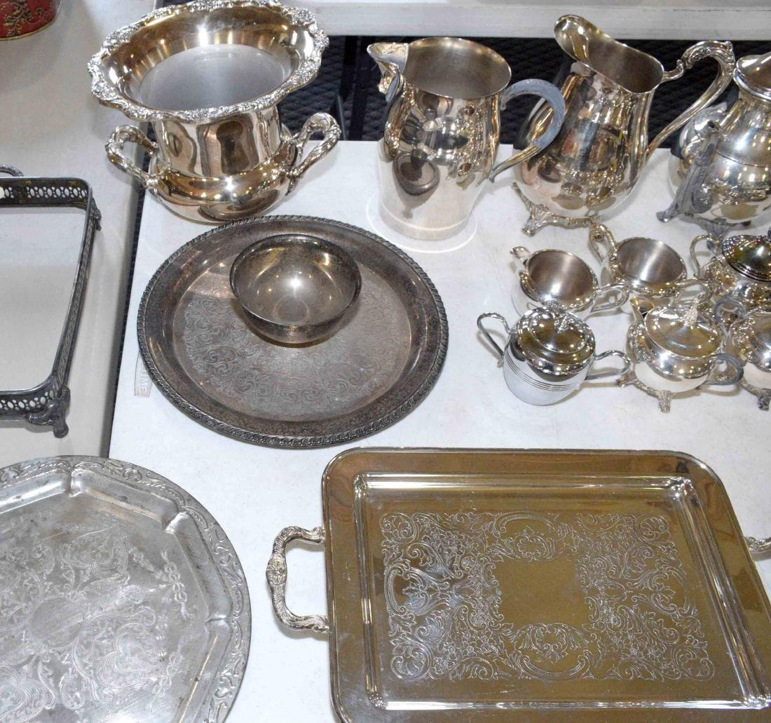 LARGE ASSORTMENT OF SILVERPLATE including platter, - 5