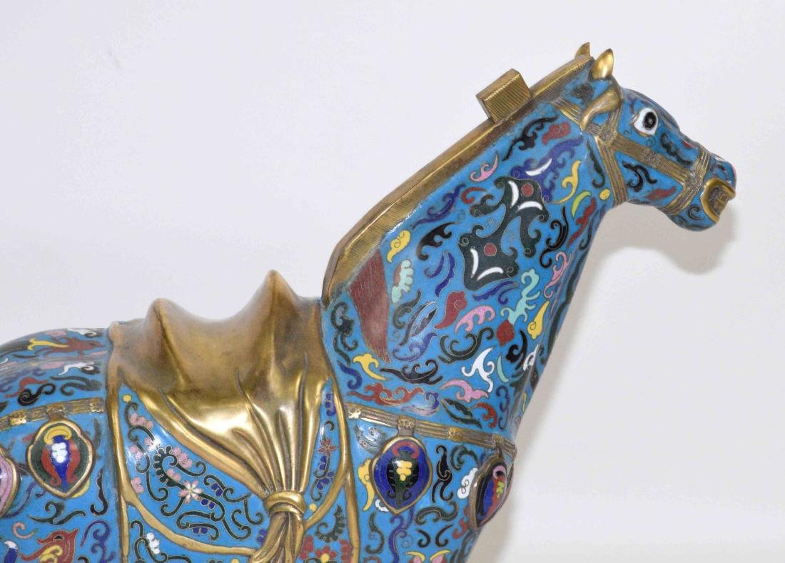 CHINESE CLOISONNE HORSE. 22''L X 7''W x 20.5''H. - 2